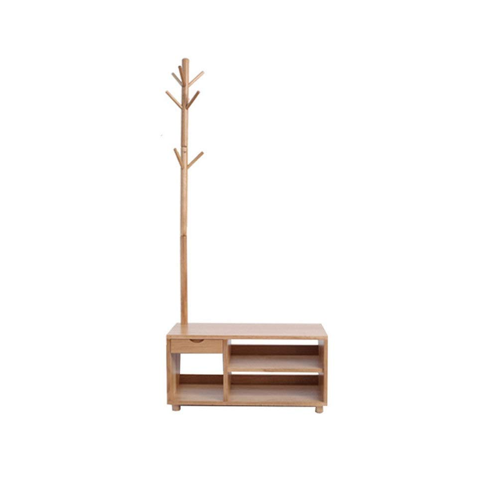 MTkxsy 純木コートラックフロアハンガー寝室シンプルハンガー純木家具   B07R58BTB8