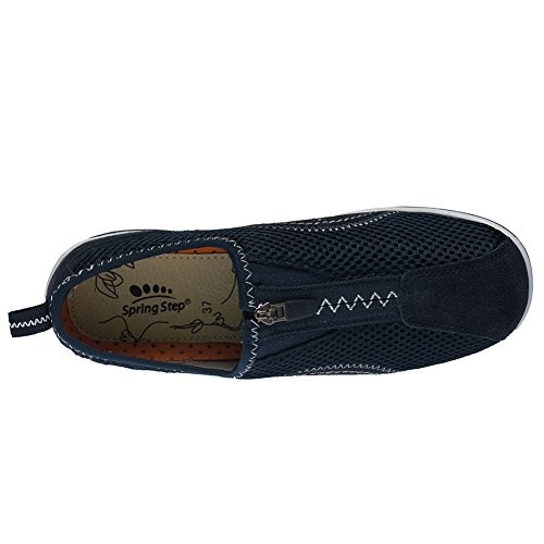 Spring Step Womens Racer Sporty Shoe Navy