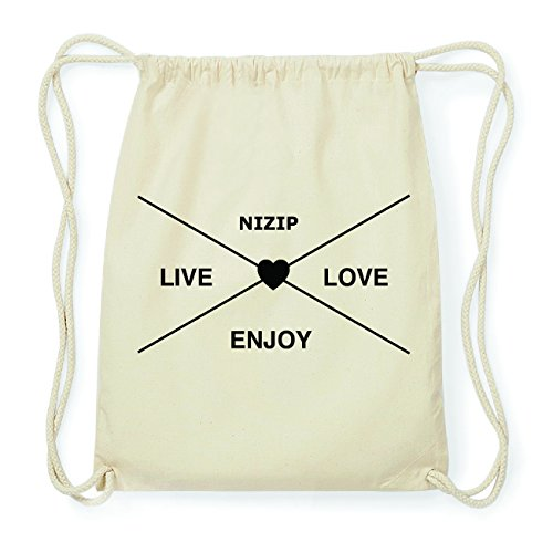 JOllify NIZIP Hipster Turnbeutel Tasche Rucksack aus Baumwolle - Farbe: natur Design: Hipster Kreuz EgwxkBgm