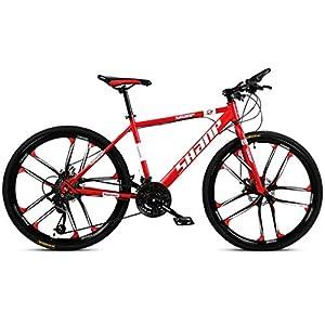 41hB7RjJJBL. SS300 JXH 26 Bici Pollici di Montagna, Doppio Freno a Disco per Mountain Bike Hardtail Uomo, Bicicletta Sedile Regolabile, ad…