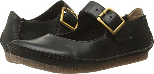 CLARKS Women's Janey June, Black Leather, 9 M US (Generals Zero Hour Rise Of The Reds)