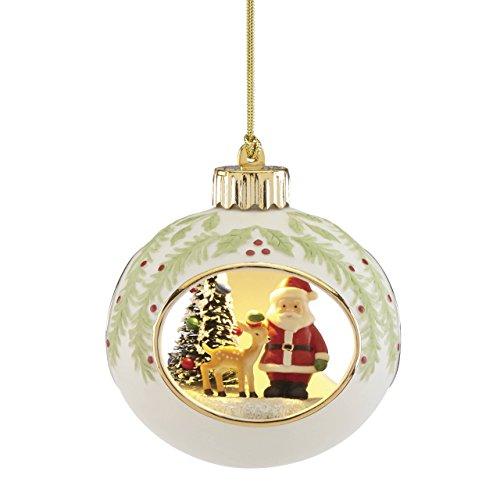 Lenox Lit Santa Scene -