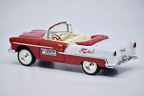 1995 - Liberty Classics/Sentry Hardware - 1955 Chevrolet Convertible - 1st Edition/Locking Coin Bank - 1:25 Scale Die Cast Metal - Rare - Collectible