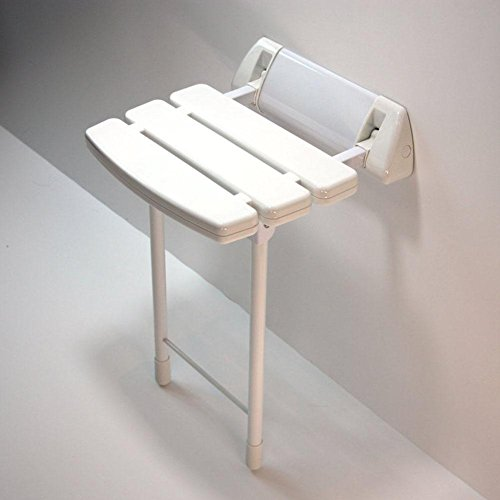 TSAR003 Aluminum Alloy And Abs Bathroom Folding Shower Seat Wall Mounted ?Height Adjustable?Specifically For The Elderly /Pregnant Women/Disabled People,13.7'' 13.3'', 330 Lb Load by TSAR003