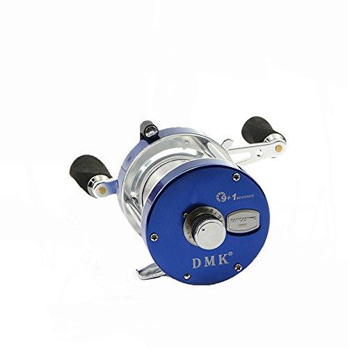 Baitcast Bait (Blue 9+1 BB 5.2:1 Saltwater Ocean Baitcasting Fishing Reel Bait Casting Baitcast Caster Left Hand Magnetic Brake System)