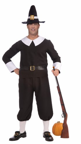 Forum Plus-Size Plymouth Pilgrim Man Costume, Black, Plus Size -