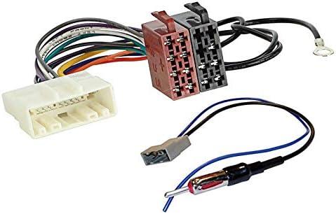 Sound-Way Autoradio Cable Conector Adaptador ISO Enchufe y Adaptador Antena Radio de Coche Compatible con Fiat, Nissan, Opel, Renault, Subaru
