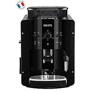 KRUPS ESSENTIAL NOIRE Machine à café à grain Machine à café broyeur grain Cafetière expresso 2 tasses Nettoyage…