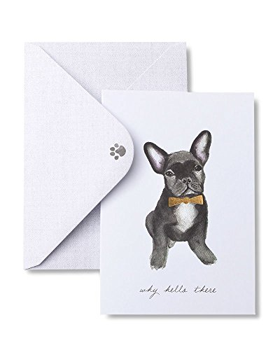 Fancy Frenchie 'Why Hello There' Note Cards with Gold Foil