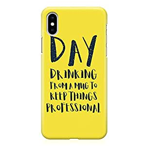 Loud Universe Phone Case For iPhone XS Max with Wrap around Edges Day Drinking Phone Case Professional 3D Phone Cover