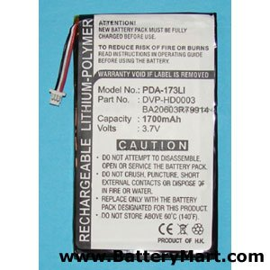 PDA-173LI MP3 Player Dantona Lithium, Lithium Polymer (Li-Po) Voltage: 3.7 Battery by Dantona