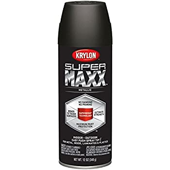 Krylon K08994000 SUPERMAXX All-In-One Spray Paint, Oil Rubbed Bronze Metallic, 12 Ounce