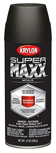 Krylon K08994000 SUPERMAXX All-In-One Spray Paint, Oil Rubbe