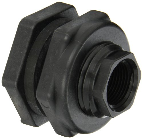 Banjo TF075 Polypropylene Bulkhead Tank Fitting, 3/4