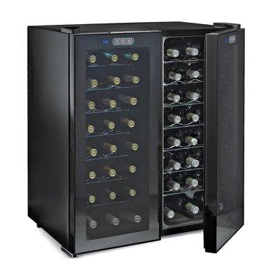 Wine Enthusiast Silent 48 Bottle Touchscreen Double Door Dual Zone Wine Refriger