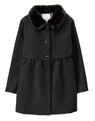 Gymboree Girls' Little Dressy Coat, Black, M