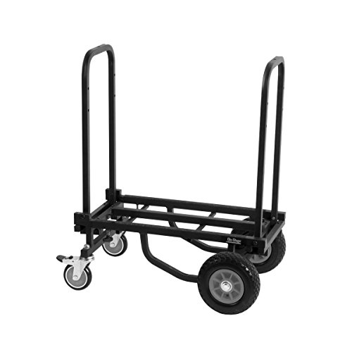 On Stage Utc2200 Folding Multi Cart Hand Truck Dolly With Expandable Telescoping Frame 485 Lb Load Capacity