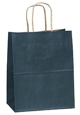 "8""x4.75""x10"" - 100 Pcs - Navy Blue Kraft Paper Bags, Shopping, Mechandise, Party, Gift Bags"