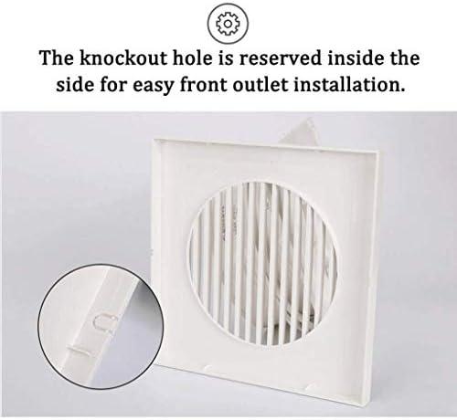 XLEVE Ventilatore di Scarico Window-Mounted Ventilatore con indicatore Luminoso, Potente e Sottile for Il Bagno/Cucina/Soggiorno (Size : 5 inch)