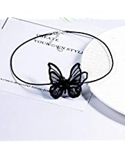Women's Lace Choker Butterfly Pattern Faddish Choker Accessory