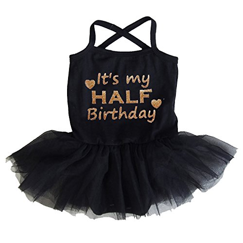 79887df400d2 Kirei Sui Gold Sparkle Half Birthday Black Tulle Tutu Bodysuit Dress - Buy  Online in UAE. | Apparel Products in the UAE - See Prices, Reviews and Free  ...
