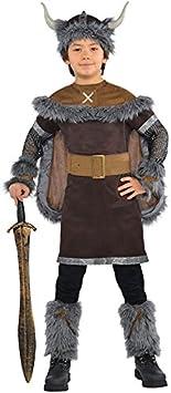 Niño Guerrera Vikingo Disfraz Histórico Medieval Sajón Disfraz - 12 ...