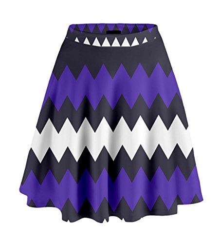 CowCow - Falda - para mujer Indigo and Purple