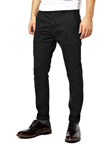 Italy-Morn-Men-Chino-Pants-Khaki-Slim-Fit-Stretch-Cotton-Twill-Dress-Trousers-Black