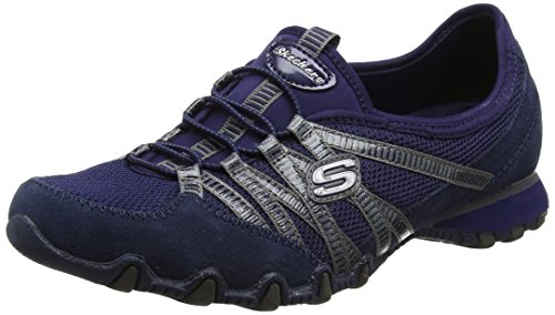 Skechers Bikers-Hot-Ticket, Entrenadores para Mujer Azul (Navy)