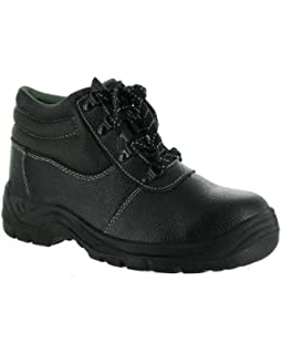 Centek Mens FS334 Lace Up Leather Safety Industrial Work Shoes