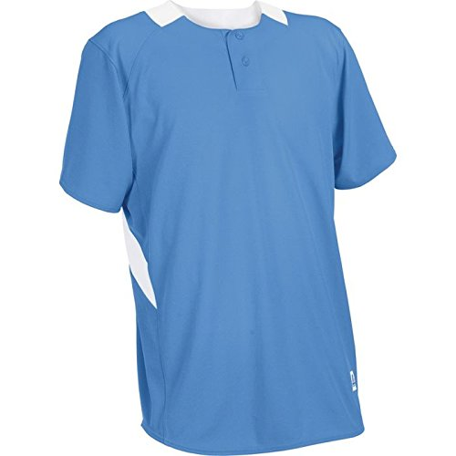 Russell Athletic Youth 2-Button Placket Jersey (Athletic Uniforms Russell Baseball)