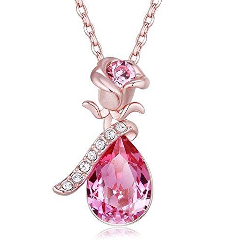 FENDINA Teardrop Crystals Swarovski Necklace