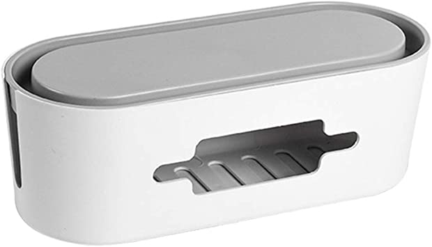 Mekta Caja de almacenamiento para enchufe, caja de cables de aluminio, enchufe con tapa, cable de alimentación, organizador para Home Office, Blanco: Amazon.es: Bricolaje y herramientas