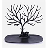aooyaoo Tree Stand Jewelry Display Necklace Earring Bracelet Holder Necklace Jewelry Organizer Tree Hooks Rack Stand Ring Dish Tray