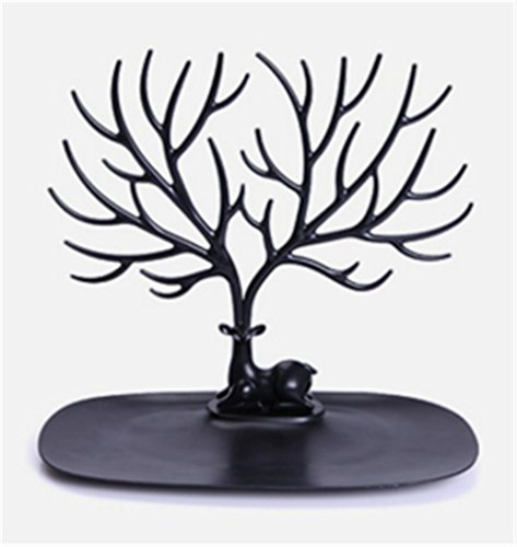 ewelry Display Necklace Earring Bracelet Holder Necklace Jewelry Organizer Tree Hooks Rack Stand Ring Dish Tray ()
