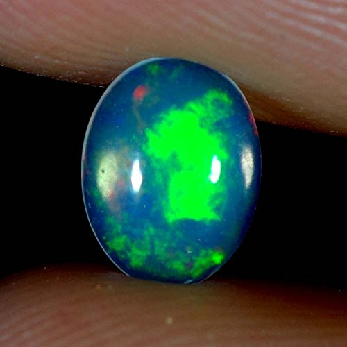 0.60 Cts Natural Super Rainbow Electric Fire Ethiopian Welo Opal Oval Cab Gems 0.60 Cts Natural