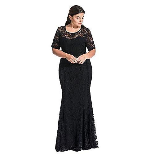 Plus Size Black Wedding Dress: Amazon.com