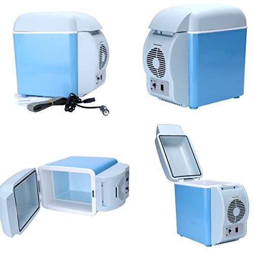 New 12V Blue Car Small Refrigerator Mini Fridge Cooler/Warmer-7.5 L