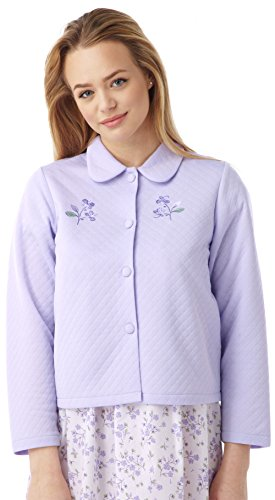 Lilac Fleece Coat 16 Quilted 18 Size Buttoned Night Collared Light 22 Lilac 26 Sleep Light 20 24 Pink Blue Ladies Jacket Quilted Bed 10 Boucle Luxury House 12 14 UK OR BngqTwPECW