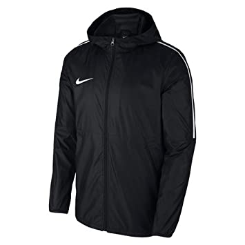 Nike Men Dry Park 18 Rain Jacket - Black White White 5b32b00c8