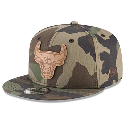 New Era Chicago Bulls Camo 9FIFTY Snapback Cap Hat, Adjustable