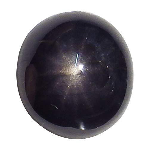 thaigeneration 1.75 Ct. Unheated Natural Oval Cabochon Deep Purple Star Sapphire Loose Gemstone