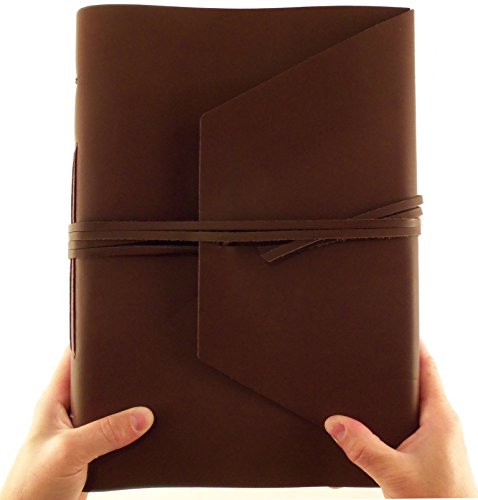 Large Genuine Leather Expedition Journal/Sketchbook with Gift Box - 380 Pages - 9