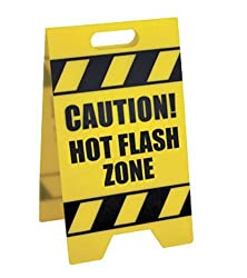 Bigmouth Inc Hot Flash Zone Caution Sign