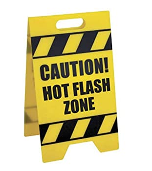 Bigmouth Inc Hot Flash Zone Caution Sign 0