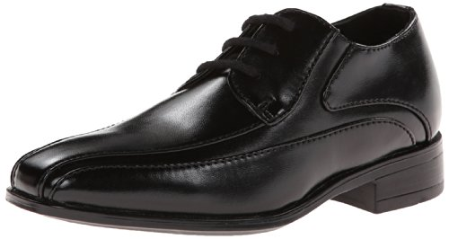 Image of Stacy Adams Peyton Bicycle Toe Lace-up Dress Shoe Uniform Oxford (Little Kid/Big Kid),Black,3 M US Little Kid