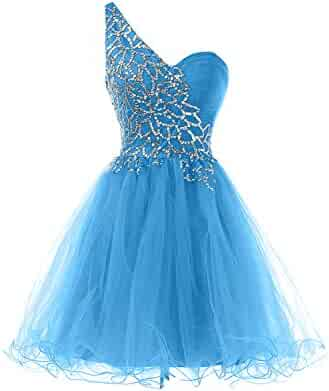 3779595ed32 Sunvary Sweety Girls Homecoming Cocktail Dresses One Shoulder Prom Gowns  Short-Length