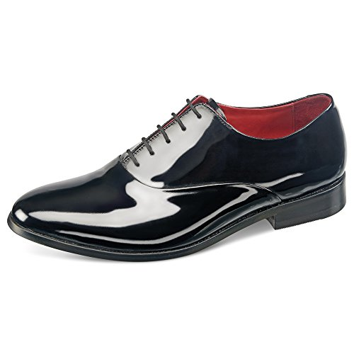 Samuel Windsor Men's Handmade Black Patent Italian Leather Formal Dress Shoe (10, Original Black)