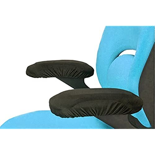 Office Chair Memory Foam Armrest Cover Pads   Soft Touch Fabric   Relieves  Elbow Discomfort (2 Piece Set)