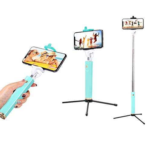 Bluetooth Selfie Stick Wireless Remote with Tripod for Free, 30 inch Extendable Monopod for iPhone X/8/7/6Plus, Samsung Galaxy S9/S8/S7/Plus/Note 8, Huawei and More by collectvoice